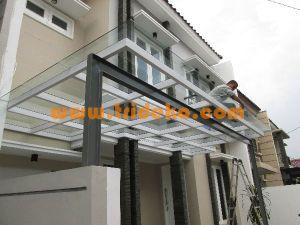canopy kaca minimalis