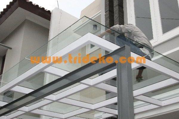 pemasangan canopy kaca kanopi kaca carport kaca atap